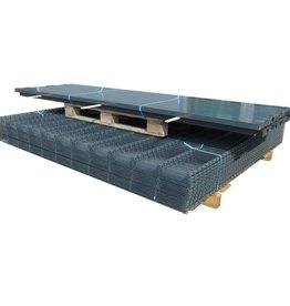 vidaXL Dubbelstaafmatten & palen 2008 x 1030 mm 34 m grijs 17 + 18 st