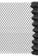 vidaXL Ketting hekwerk 15x1,5 m staal grijs