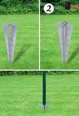 vidaXL Gaashek set met grondankers 1,97x15 m groen