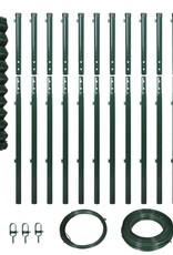 vidaXL Gaashek set met palen 1,97x25 m groen
