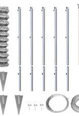 vidaXL Gaashek set met grondankers 1,95x15 m gegalvaniseerd