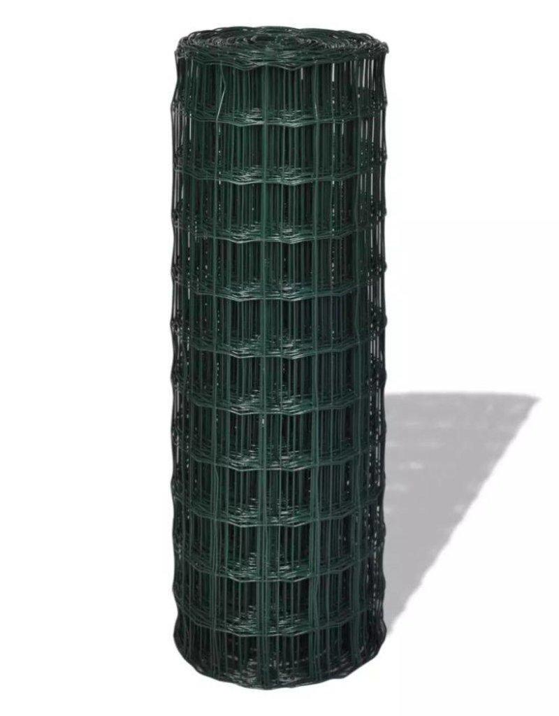 vidaXL Euro hek 10x1,96 m met 76x63 mm gaas staal