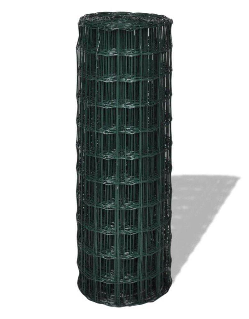 vidaXL Euro hek 10x1,7 m met 76x63 mm gaas staal