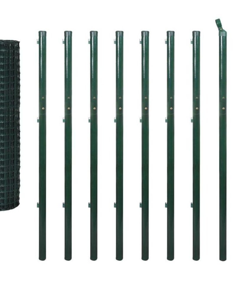 vidaXL Euro hek set 10x1,96 m staal groen
