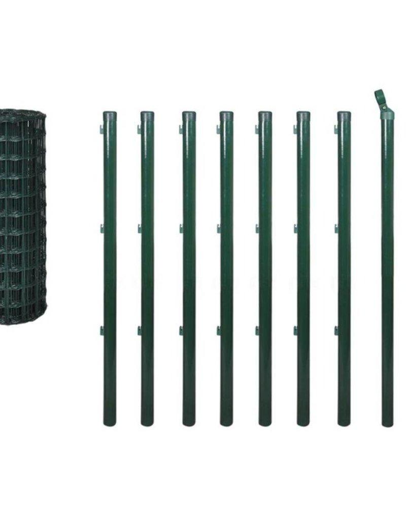 vidaXL Euro hek set 10x1,2 m staal groen