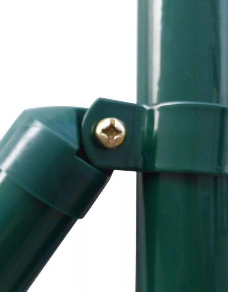 vidaXL Euro hek set 10x1 m staal groen