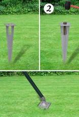 vidaXL Euro hek set met grondpennen 25x1,2 m staal groen