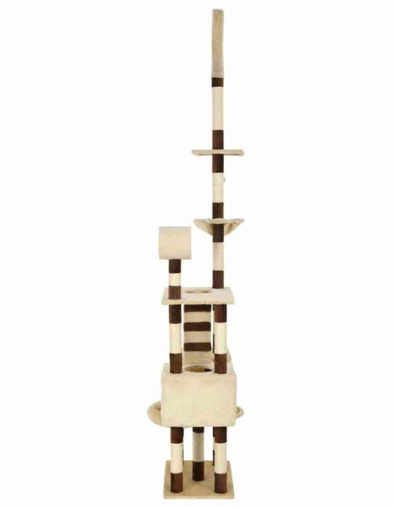 vidaXL Kattenkrabpaal met sisal krabpalen 246-280 cm beige en bruin