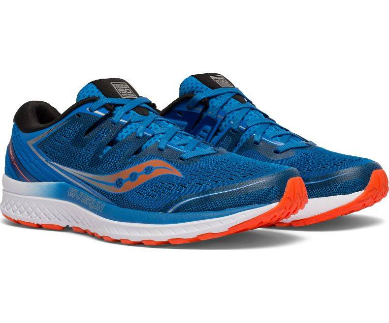 Saucony Guide ISO 2 Running Shoes Blue Orange |