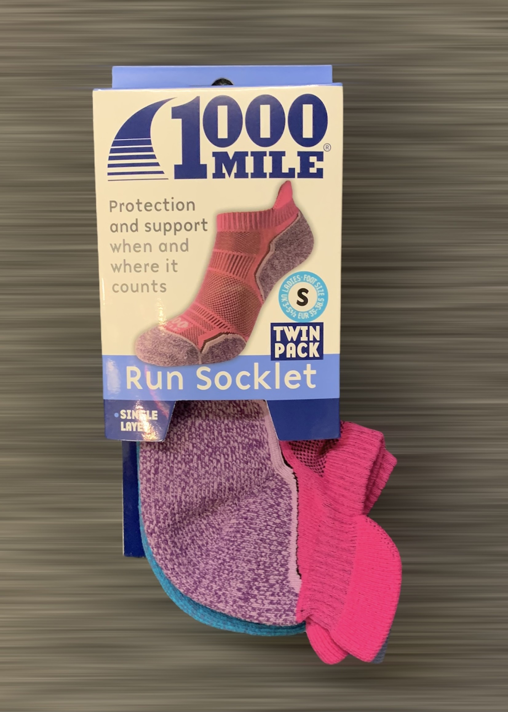 1000 mile 1000 Mile Run Socklet Twin Pack - Womens