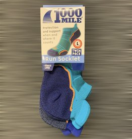 1000 mile 1000 Mile Run Socklet Twin Pack - Mens
