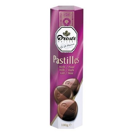 Droste Droste Chocolade Pastilles Koker Melk/Puur 100 Gram