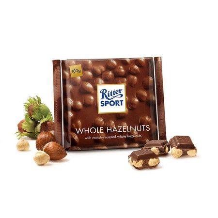 Ritter Sport Ritter Sport Whole Hazelnuts 100 Gram