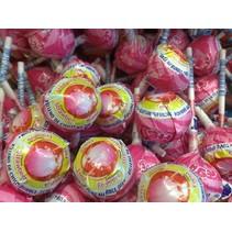 Mister Bubble Aardbei Kauwgom Lollie 8 Stuks