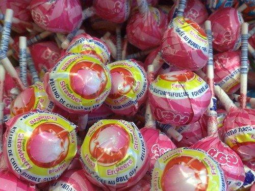 Mister Bubble Mister Bubble Aardbei Kauwgom Lollie 8 Stuks