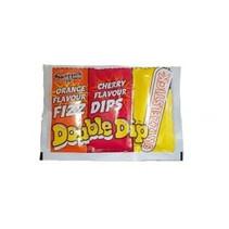 Swizzels Double Dip Cherry Orange 4 stuks
