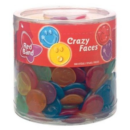 Red Band Red Band Silo Crazy Faces Winegums 300 Stuks 1510 Gram