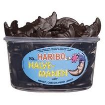 Haribo Silo Halve Drop Manen 150 Stuks 1350 Gram