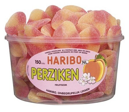 Haribo Haribo Silo Perziken 150 Stuks 1350 Gram