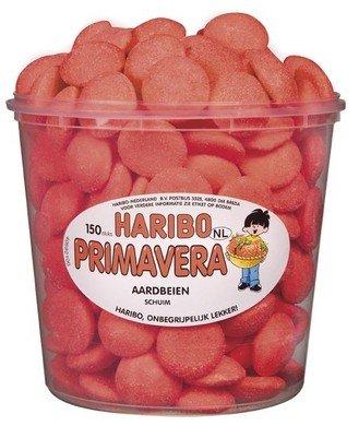 Haribo Haribo Silo Schuim Aardbeien Primavera 1050 Gram 150 Stuks