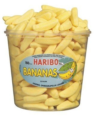 Haribo Haribo Silo Gesuikerde Banaantjes 150 Stuks 1050 Gram