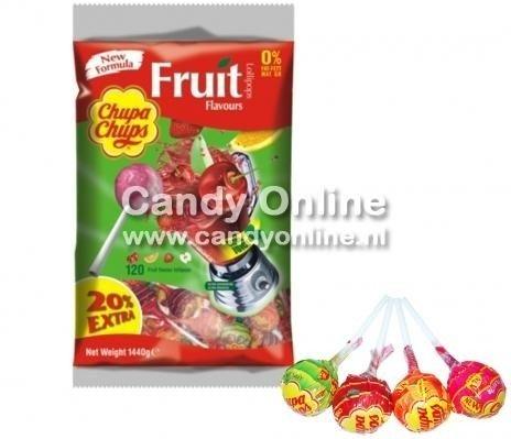 Chupa Chups Chupa Chups - Lollys Fruit 100 + 20 Gratis