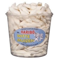 Haribo Silo Witte Muizen 150 Stuks 1050 Gram