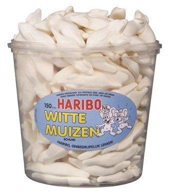 Haribo Haribo Silo Witte Muizen 150 Stuks 1050 Gram