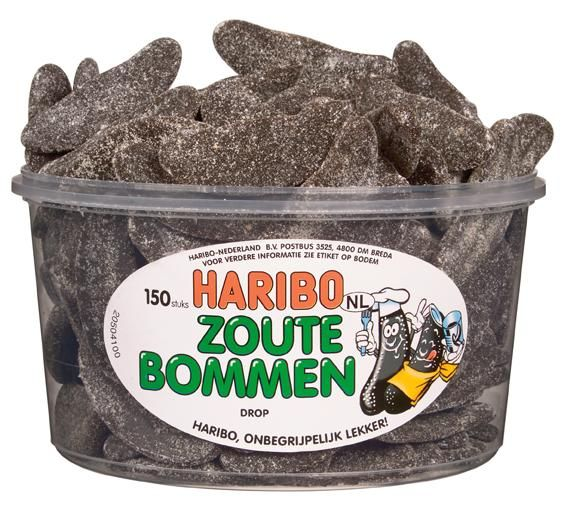 Haribo Haribo Silo Zoute Bommen 150 Stuks 1350 Gram