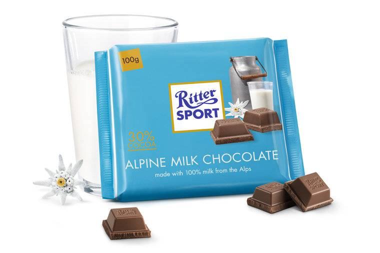 Ritter Sport Ritter Sport Alpenmelk 30% 100 Gram