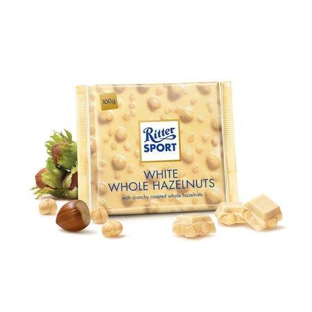 Ritter Sport Ritter Sport White Whole Hazelnuts 100 Gram