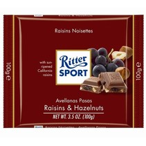 Ritter Sport Raisins & Hazelnuts 100 Gram