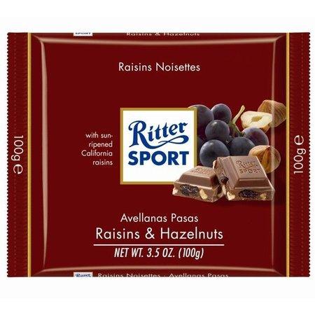 Ritter Sport Ritter Sport Raisins & Hazelnuts 100 Gram
