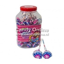 Fiesta Mister Bubble Gum Lollie Strawberry 100 Stuks