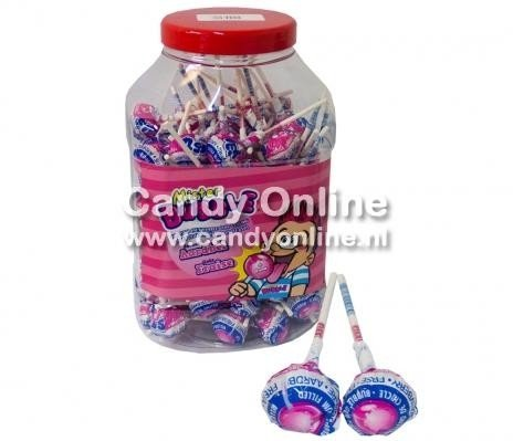 Image of Fiesta Fiesta Mister Bubble Gum Lollie Strawberry 100 Stuks 78148772