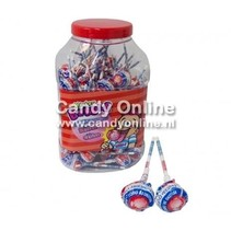 Fiesta Mister Bubble Gum Lolly's Cherry 100 Stuks