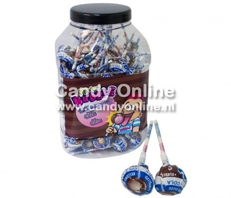 Fiesta Fiesta Mister Bubble Gum Lolly's Cola 100 Stuks