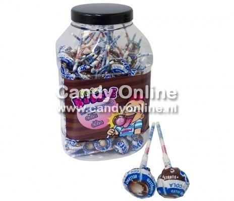 Image of Fiesta Fiesta Mister Bubble Gum Lolly's Cola 100 Stuks 78148778