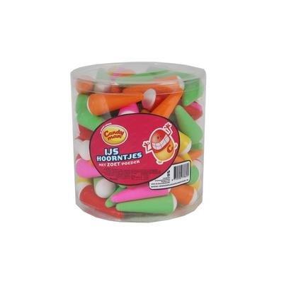 Candyman Candyman Ijshoorntjes Gevuld Met Vruchtenpoeder 90 Stuks