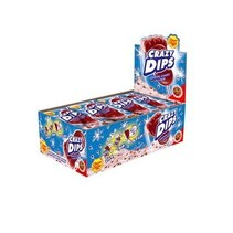 Chupa Chups - Crazy Dips Cola Lolly + Knetter 24 Stuks