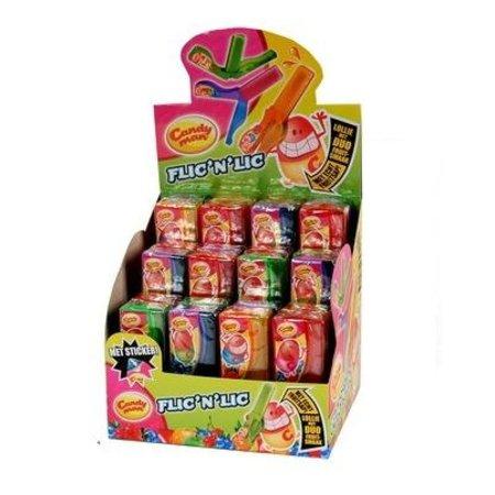 Candyman Candyman Flic 'N Lic Lollie 24 Stuks