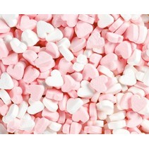 Fortuin Wit/Roze Pepermunt Hartjes 3 Kilo