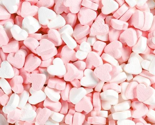 Fortuin Fortuin Wit/Roze Pepermunt Hartjes 3 Kilo