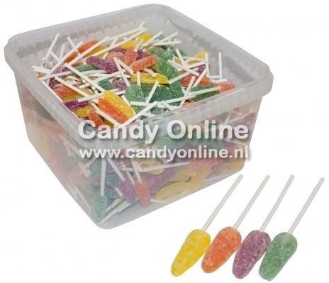 Overige LikBits Mini Fruit Lollies 325 Stuks 1.3 Kilo