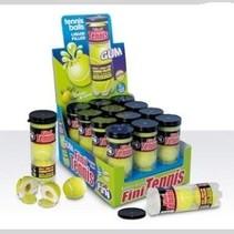 Fini Tennisbal Kauwgom Koker 12 Stuks