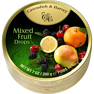 Cavendish & Harvey Cavendish En Harvey Mixed Fruit Drops 200 Gram