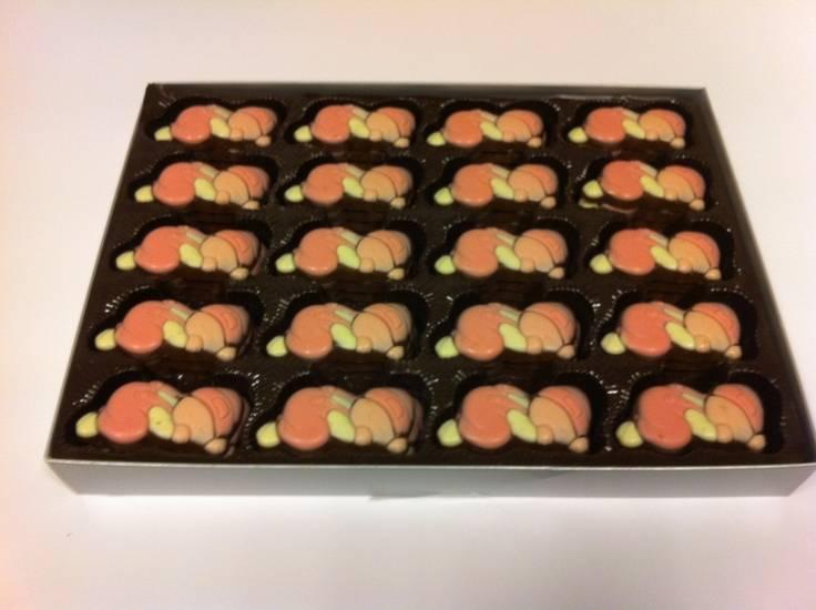 Overige Chocolade Baby's Roze  /-60 Stuks