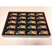 Chocolade Baby's Blauw  /-60 Stuks