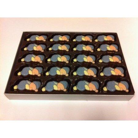 Overige Chocolade Baby's Blauw  /-60 Stuks