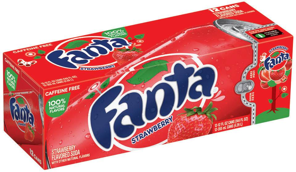 Fanta Fanta - Strawberry 355ml 12 Blikjes